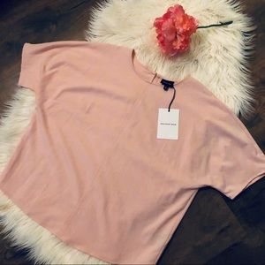 Who What Where short sleeve pink blouse